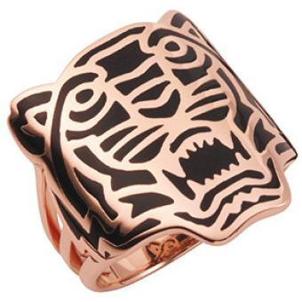 Bague Kenzo 702160701150 - Bague Or Rose Tigre Femme - Kenzo
