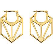 Boucles d'oreilles Hexagonales Plaqué Or - Kenzo - Acier