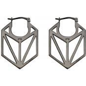 Boucles d'oreilles Noires Hexagonales - Kenzo