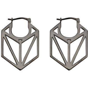 Boucles d'oreilles Noires Hexagonales - Kenzo Bijoux - Kenzo