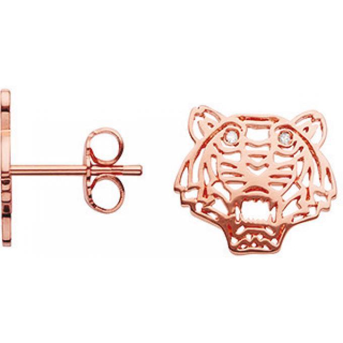 Boucles d'oreilles Kenzo 70216374059000 - Boucles d'oreilles Tigre Rose