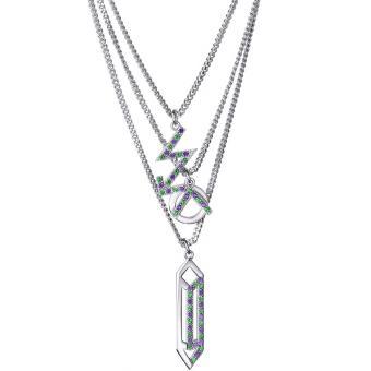 Collier et pendentif Argent Blanc - Kenzo Bijoux - Kenzo