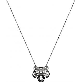Collier Kenzo 70238393300060 - Collier Tigre Argent Femme