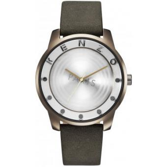 Montre Kenzo 7 POINT K0054006 - Montre Cuir Kaki Mixte