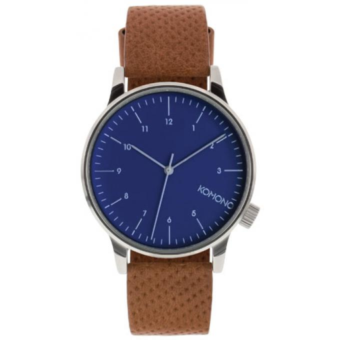 komono winston montre avec bracelet en cuir marron marron vendu par 542751. Black Bedroom Furniture Sets. Home Design Ideas