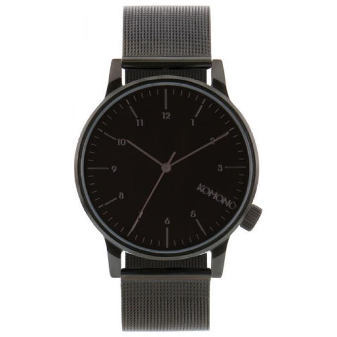 montre komono winston royale kom w2352 montre noire maille milanaise mixte sur bijourama. Black Bedroom Furniture Sets. Home Design Ideas