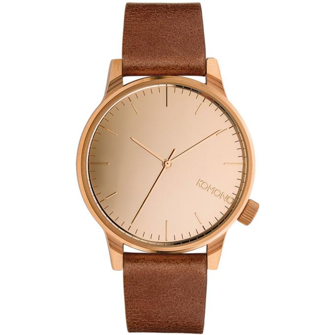 montre komono winston mirror kom w2893 montre cuir marron homme sur bijourama montre homme. Black Bedroom Furniture Sets. Home Design Ideas