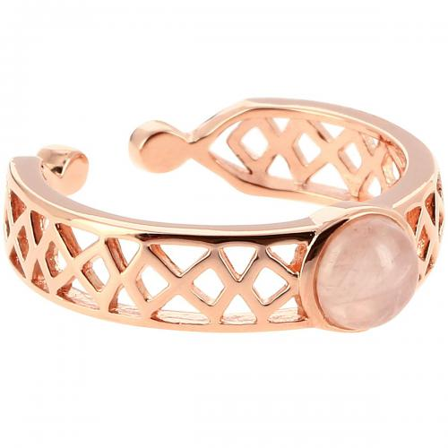 Kosma Paris - Bague Mia Doré Rose & Quartz Rose - Bijoux kosma paris