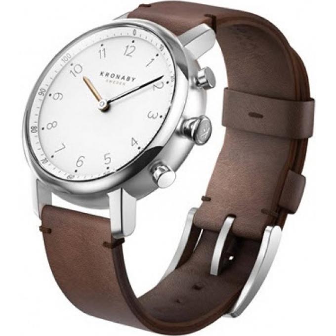 montre connect e kronaby a1000 0711 montre connect e cuir marron homme sur bijourama montre. Black Bedroom Furniture Sets. Home Design Ideas