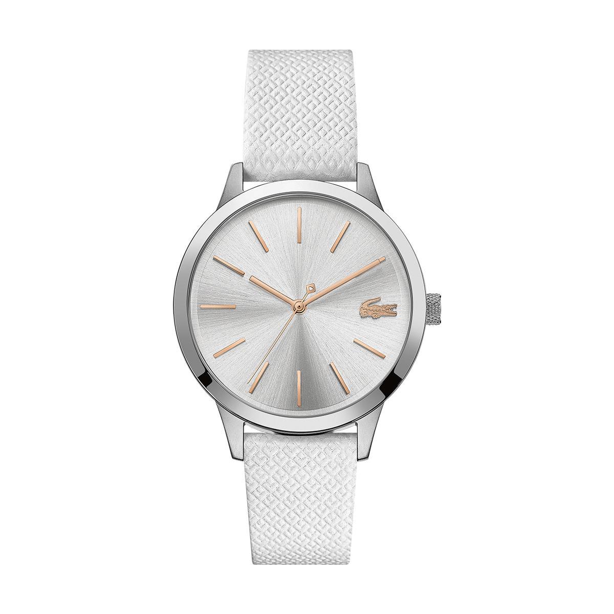 montre femme blanche bracelet cuir
