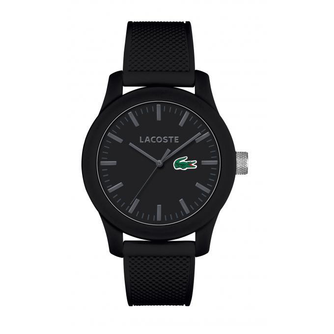 montre lacoste 2010766 montre ronde noire mixte sur bijourama montre mixte pas cher en ligne. Black Bedroom Furniture Sets. Home Design Ideas