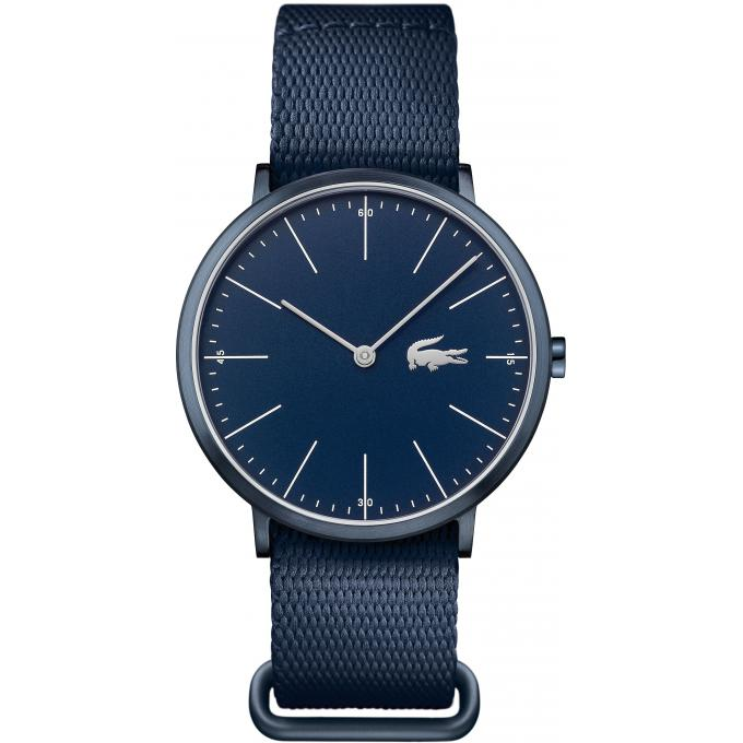 montre lacoste moon ultra slim 2010874 montre tissu bleue homme sur bijourama montre homme. Black Bedroom Furniture Sets. Home Design Ideas