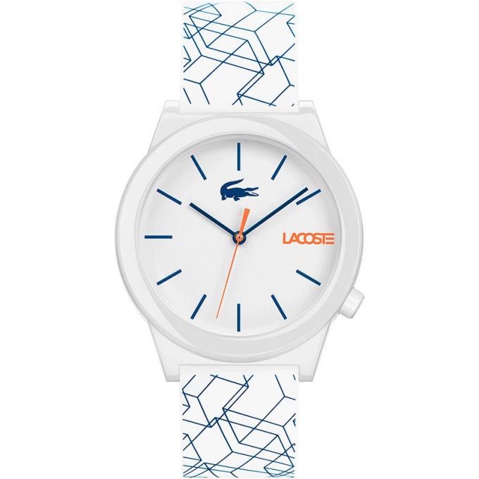 montre lacoste 2010956 montre silicone blanc et bleu homme sur bijourama montre homme pas. Black Bedroom Furniture Sets. Home Design Ideas