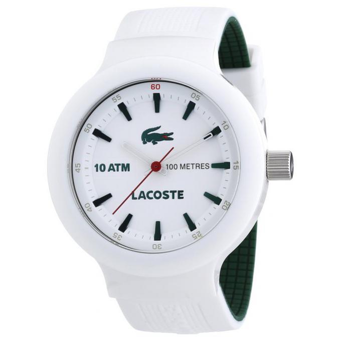 montre lacoste 2010661 montre quartz blanche homme sur bijourama n 1 de la montre homme. Black Bedroom Furniture Sets. Home Design Ideas