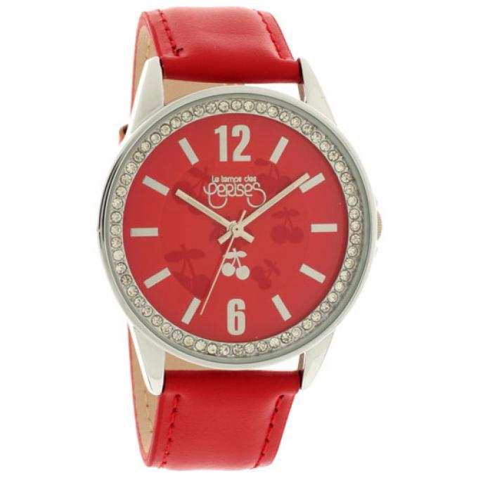 montre le temps des cerises tca18rdc montre cuir rouge femme sur bijourama montre femme pas. Black Bedroom Furniture Sets. Home Design Ideas