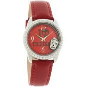 Montre Le Temps Des Cerises Cuir Rouge Gothique TC45RDC2