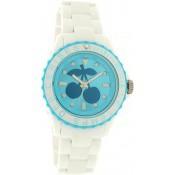 Montre Le Temps Des Cerises Blanche Turquoise TC51WTBLR
