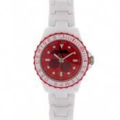 Montre Le Temps Des Cerises Blanche Rouge TC51WTRDR
