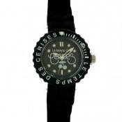 Montre Le Temps Des Cerises Silicone Noir TC57BKSN