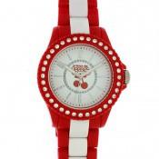 Montre Le Temps Des Cerises Rouge Strass TC60RDR