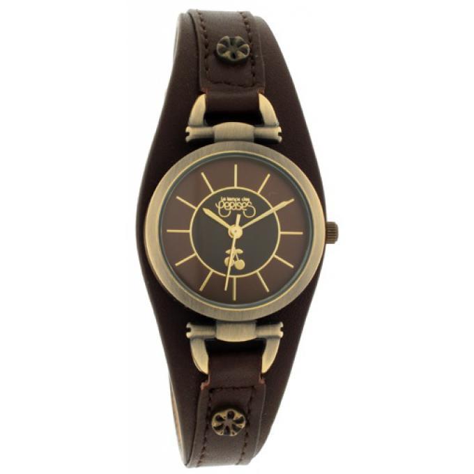 montre le temps des cerises tca06abrc montre ronde cuir marron femme sur bijourama montre. Black Bedroom Furniture Sets. Home Design Ideas