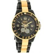 Montre Le Temps Des Cerises Dorée Bracelet Noir TC05GDBKR