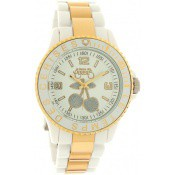 Montre Le Temps Des Cerises Dorée Bracelet Blanc TC05GDWTR