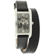 Montre Le Temps Des Cerises Noire Bracelet Double TC78BKC