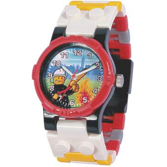 Montre Lego City 740426 - Montre Pompier Rouge Enfant