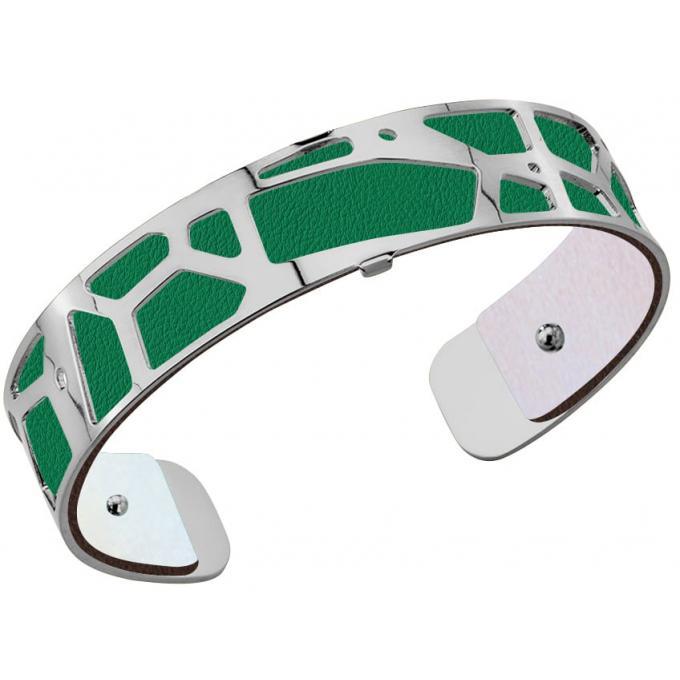 Cuir Bracelet Femme Les Georgettes Irisé Argent/Vert 702145899AI,14mm