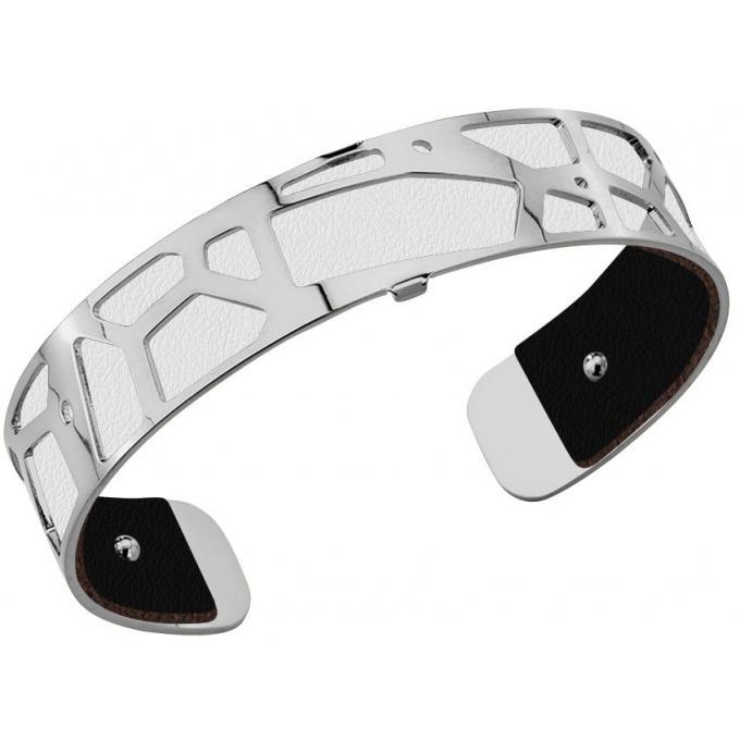 acheter en ligne 4ef8d d1a9f Cuir pour Bracelet Les Georgettes CUIR NOIR-BLANC - Cuir ...
