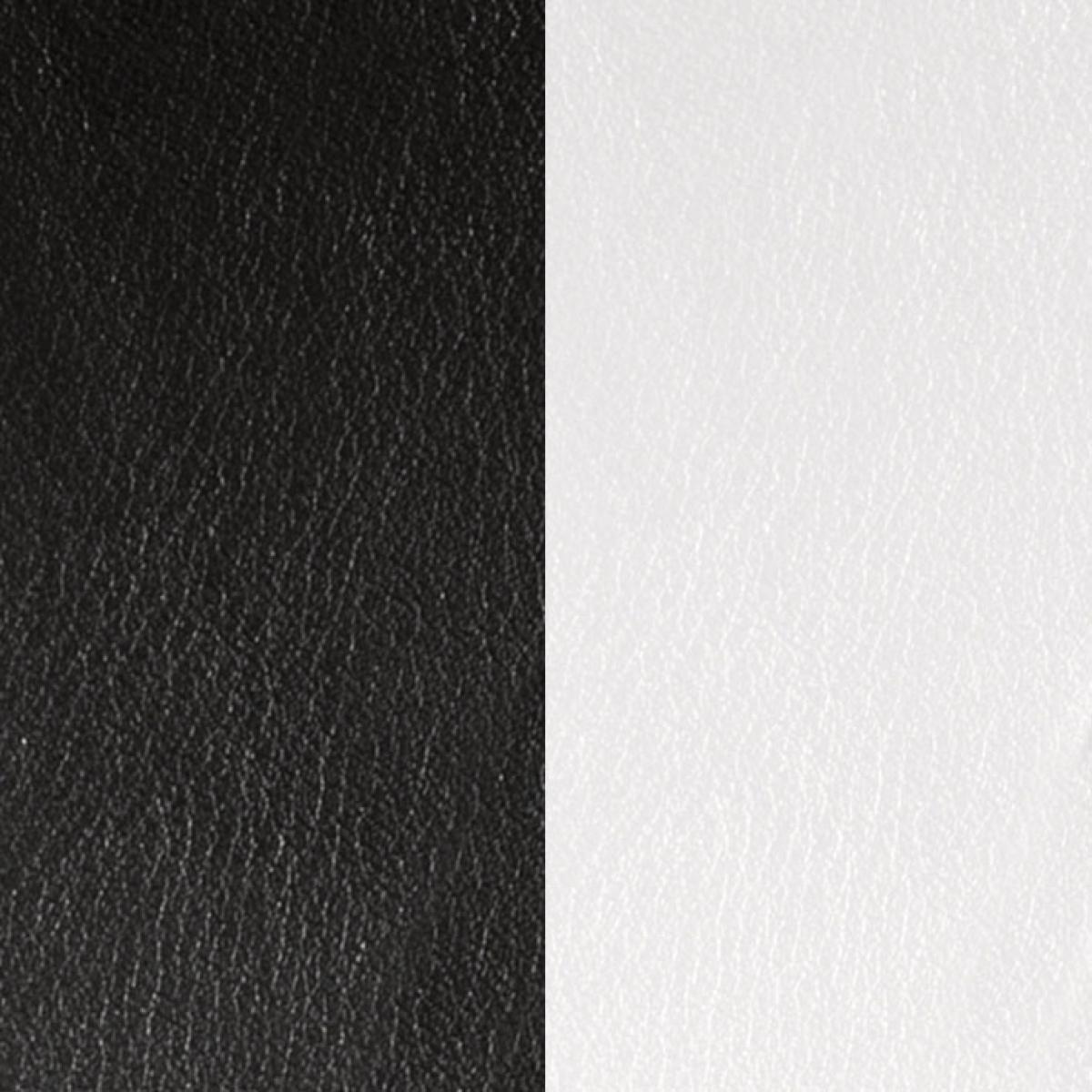 Cuir pour Bracelet Les Georgettes CUIR NOIR-BLANC - Cuir pour Bracelet Réversible Interchangeable Fe