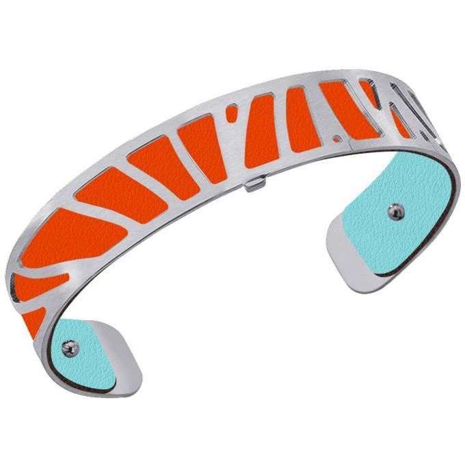 cd6b468ce45ae5 Cuir pour Bracelet Les Georgettes CUIR ORANGE LILIUM-BLEU NIMBUS - Cuir  pour Bracelet Réversible Interchangeable Femme 4/5 (1 avis)
