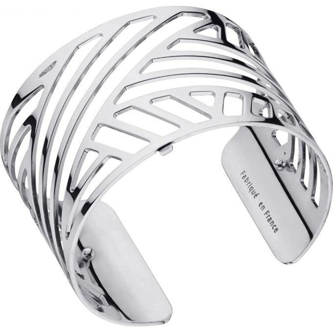 Bracelet Ruban Les Georgettes 70285671600 , Bracelet Manchette Argent  Taille Large Femme