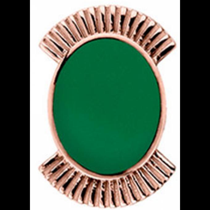 Promo : Clip Les Georgettes 70311154009000 - Clip Coutures Doré Rose Vert 25 mm Femme