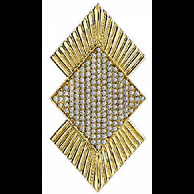 Clip Les Georgettes 70314740108000 - Clip Coutures Doré OZ 40 mm Femme