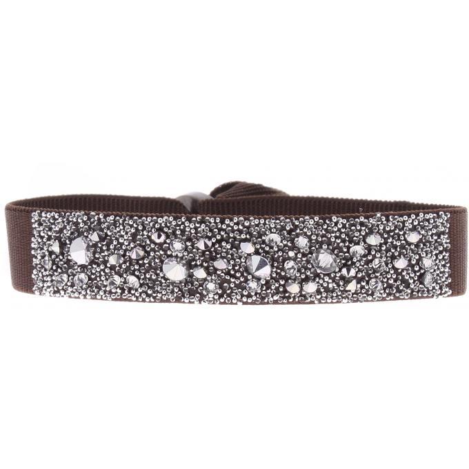 bracelet les interchangeables a39572 bracelet tissu marron cristaux swarovski femme sur. Black Bedroom Furniture Sets. Home Design Ideas