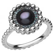 Bague Links of London 5045-6834 - Bague Effervescence Blue Diamond et Perle Femme