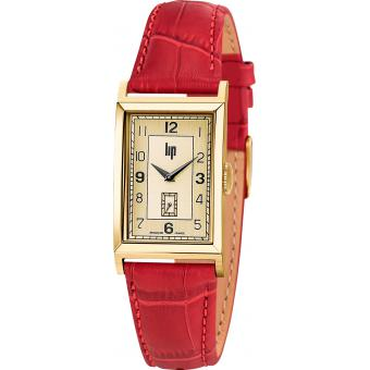Montre Lip 671011 - Montre Cuir Rouge