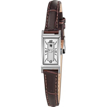 Montre Lip 671225 - Montre Rectangulaire Bicolore Femme