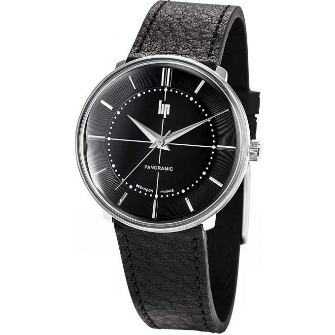 montre lip panoramic 671063 montre cuir noire mixte sur bijourama montre mixte pas cher en ligne. Black Bedroom Furniture Sets. Home Design Ideas