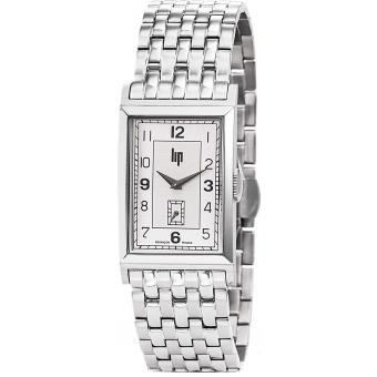Montre Lip T18 CHURCHILL 671280 - Montre Rhodiée Rectangulaire Homme