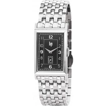 Montre Lip T18 CHURCHILL 671282 - Montre Argentée Rectangulaire Homme