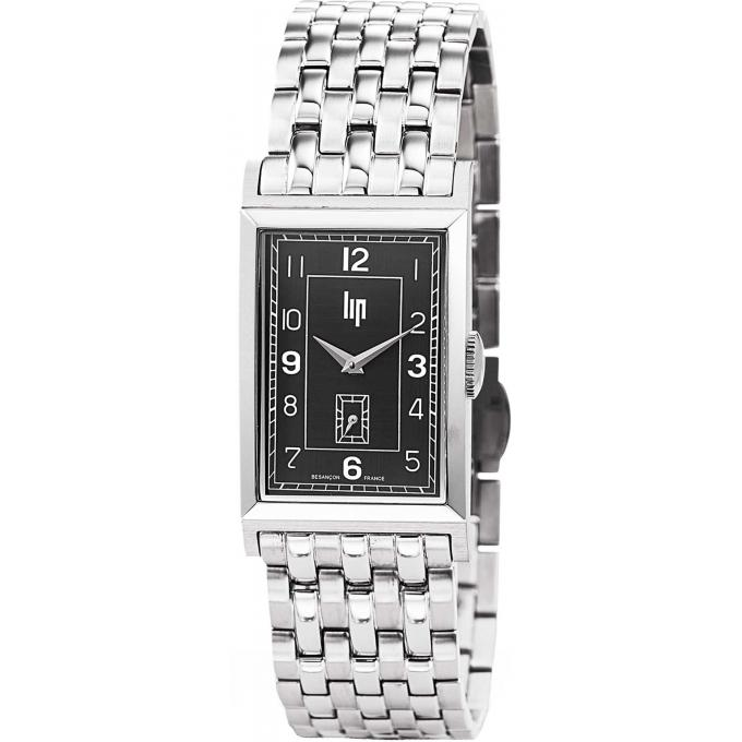 montre lip t18 churchill 671282 montre argent e rectangulaire homme sur bijourama montre. Black Bedroom Furniture Sets. Home Design Ideas
