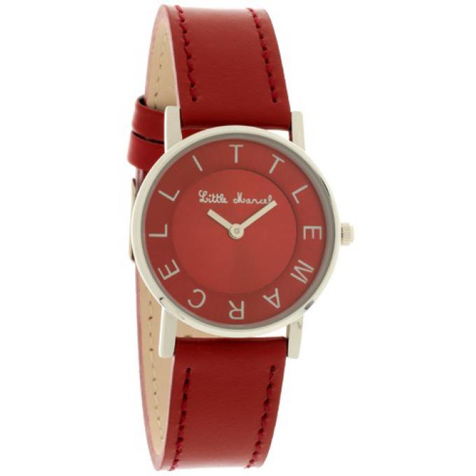montre little marcel lm48rdc montre ronde cuir rouge femme sur bijourama montre femme pas. Black Bedroom Furniture Sets. Home Design Ideas
