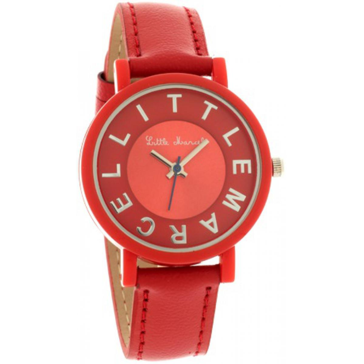 Montre Little marcel LM49RDC - Montre Cuir Rouge Femme