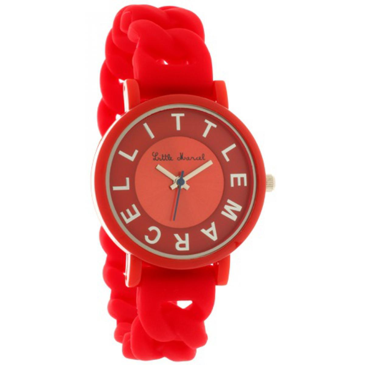 Montre Little marcel LM49RDSN - Montre Silicone Rouge Femme
