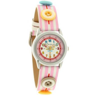 Montre Little marcel LMP06PKC - Montre Ronde Cuir Rose Femme