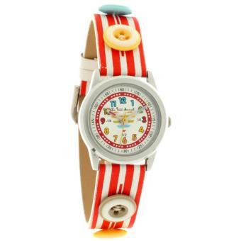 Montre Little marcel LMP06RDC - Montre Ronde Cuir Multicolore Femme
