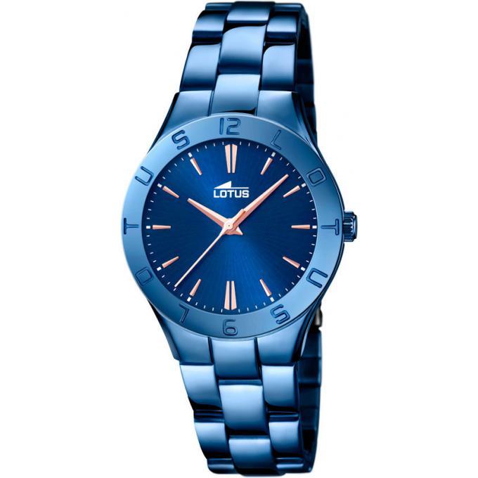 montre lotus l18249 2 montre bleue ronde femme sur bijourama montre femme pas cher en ligne. Black Bedroom Furniture Sets. Home Design Ideas